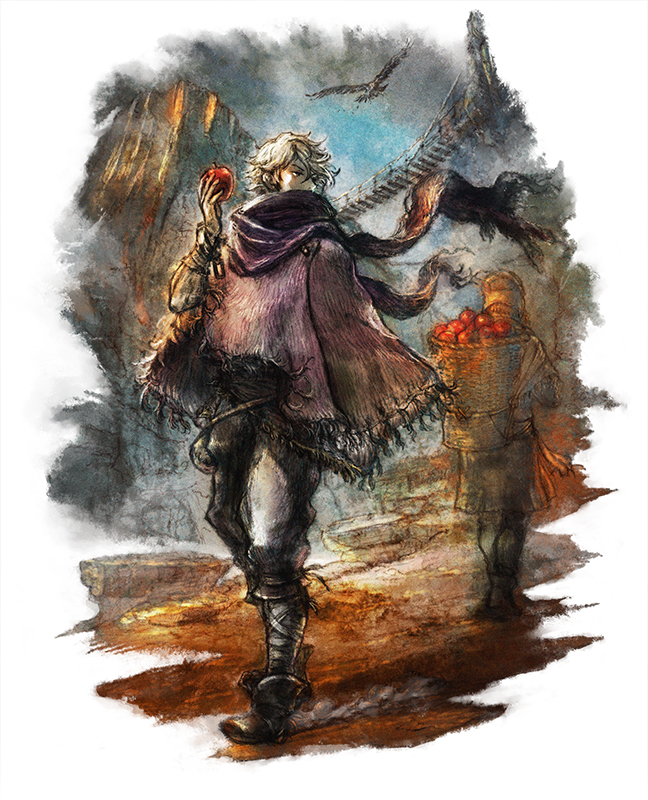 Tags: Anime, Yoshida Akihiko, SQUARE ENIX, Octopath Traveler, Therion (Octopath Traveler), Poncho, Cover Image, Official Art