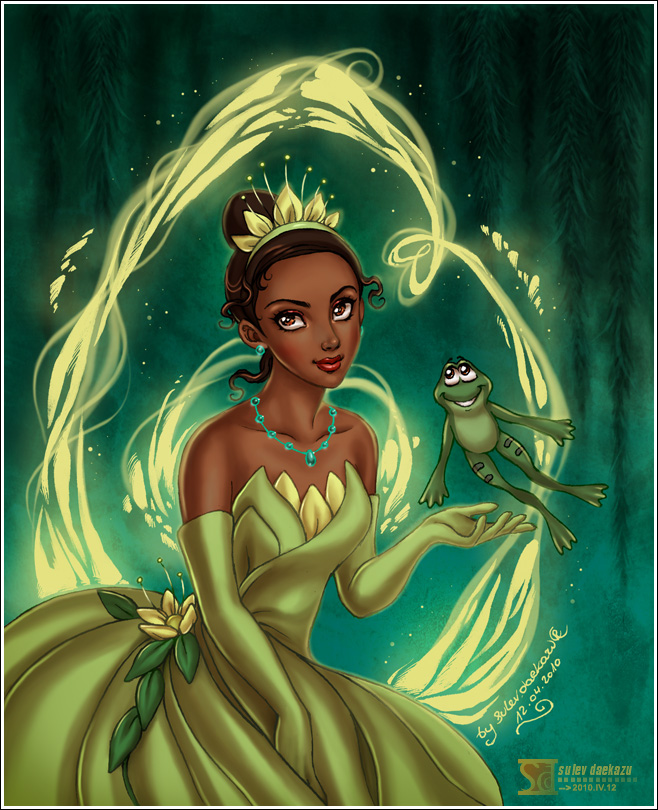 Tags: Anime, Daekazu, Frog Prince, The Princess and the Frog, Tiana (Frog Prince), Prince Naveen, Gown, Disney, Fanart, deviantART