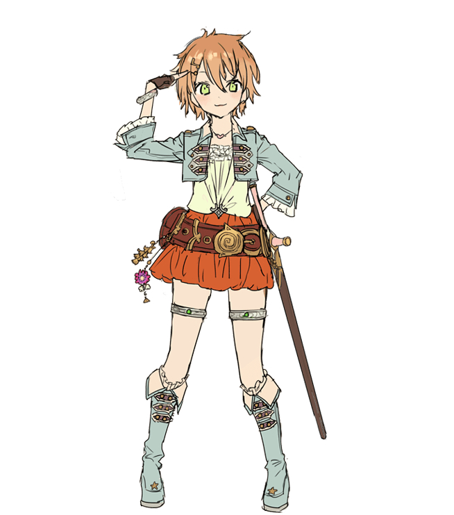 Tags: Anime, NOCO, Gust, Atelier Firis, Tiana Paschen, Cover Image, PNG Conversion, Official Art