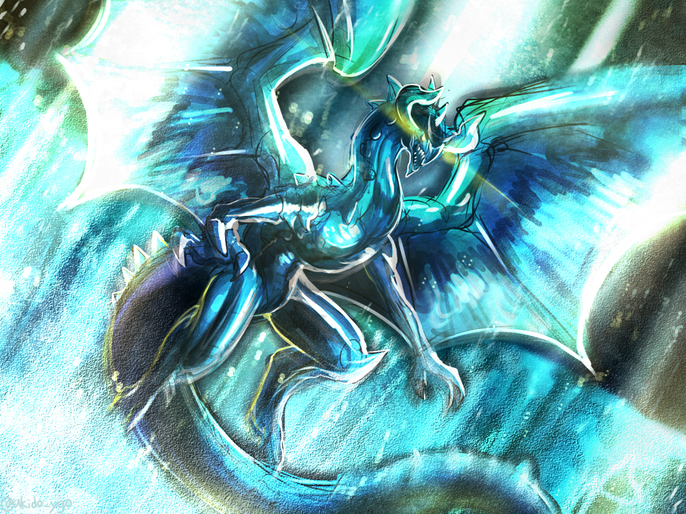 Dragon Ruler Wallpaper Dragon Ruler of Waterfalls