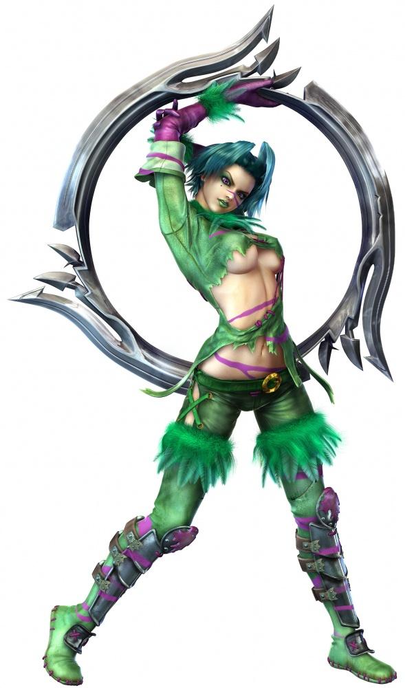 Tags: Anime, Soul Calibur, Tira, Green Lips, Ringblade, 3D