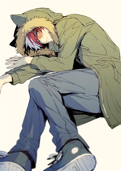 Tags: Anime, hegi, Boku no Hero Academia, Todoroki Shouto, Parka, Fanart From Pixiv, Pixiv, Fanart