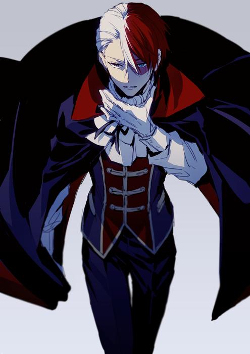 Tags: Anime, hegi, Boku no Hero Academia, Todoroki Shouto, Vampire Costume, Fanart, Fanart From Pixiv, Pixiv