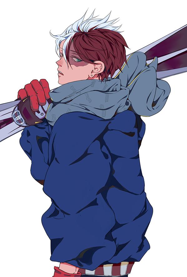Tags: Anime, Pixiv Id 17002510, Boku no Hero Academia, Todoroki Shouto, Skiing