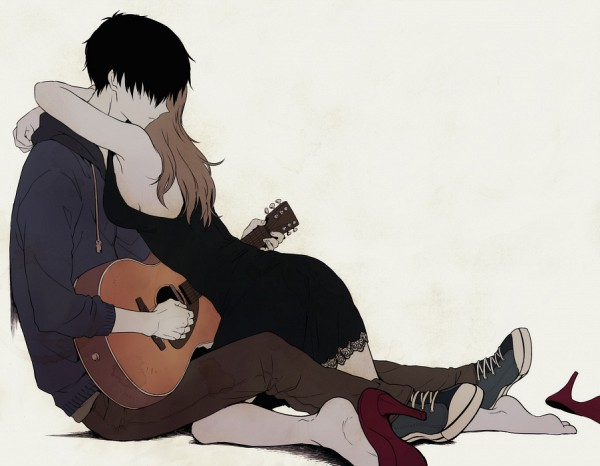 Tags: Anime, Togetsuhou, Expressionless, Guitar