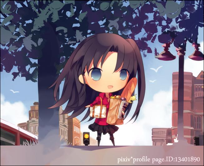 Tags: Anime, Pixiv Id 13401890, Fate/stay night, Tohsaka Rin, PNG Conversion, Rin Tohsaka