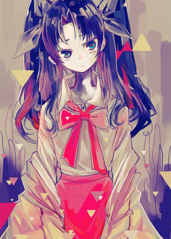Tags: Anime, Ochakai Shinya, Fate/zero, Tohsaka Rin, Pixiv, Mobile Wallpaper, Rin Tohsaka