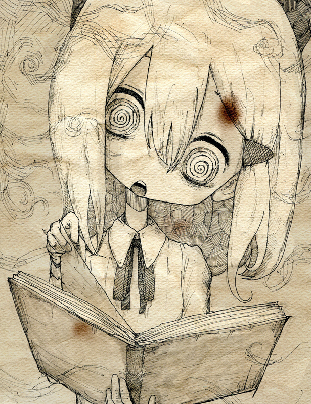 Tags: Anime, Toi (Number 8), Lost In The Library, Pixiv, Original