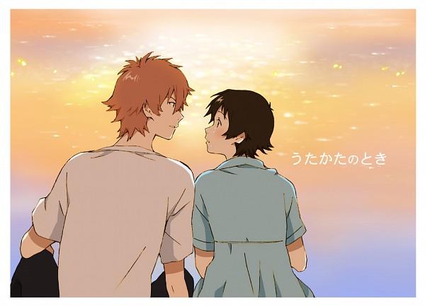 Tags: Anime, Mameko, Toki wo Kakeru Shoujo, Mamiya Chiaki, Konno Makoto, White Border