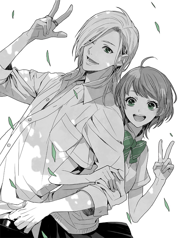 Tags: Anime, Ring, V Gesture, Arm In Arm, Konami, Tokimeki Memorial