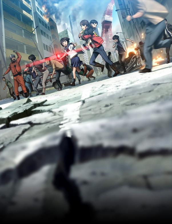 Tags: Anime, BONES (Studio), Kinema Citrus, Tokyo Magnitude 8.0, Kusakabe Mari, Onozawa Yuuki, Onozawa Mirai, Tokyo, Earthquake, Ambulance, Tokyo Tower, Cracks, Official Art