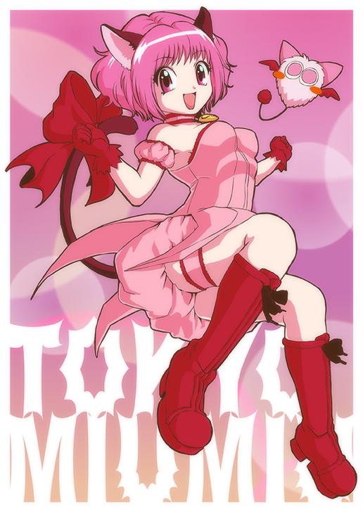 Tags: Anime, Pixiv Id 7419537, Tokyo Mew Mew, Mew Ichigo, Masha, Momomiya Ichigo, Puffy Skirt, Fanart From Pixiv, Pixiv, Fanart, Mobile Wallpaper