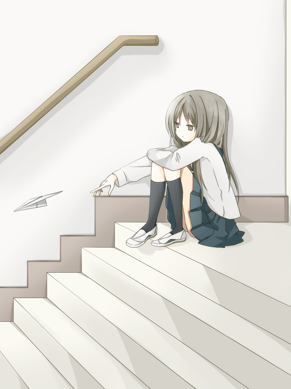 Tags: Anime, Tomine Chiho, Paper Airplane, Original