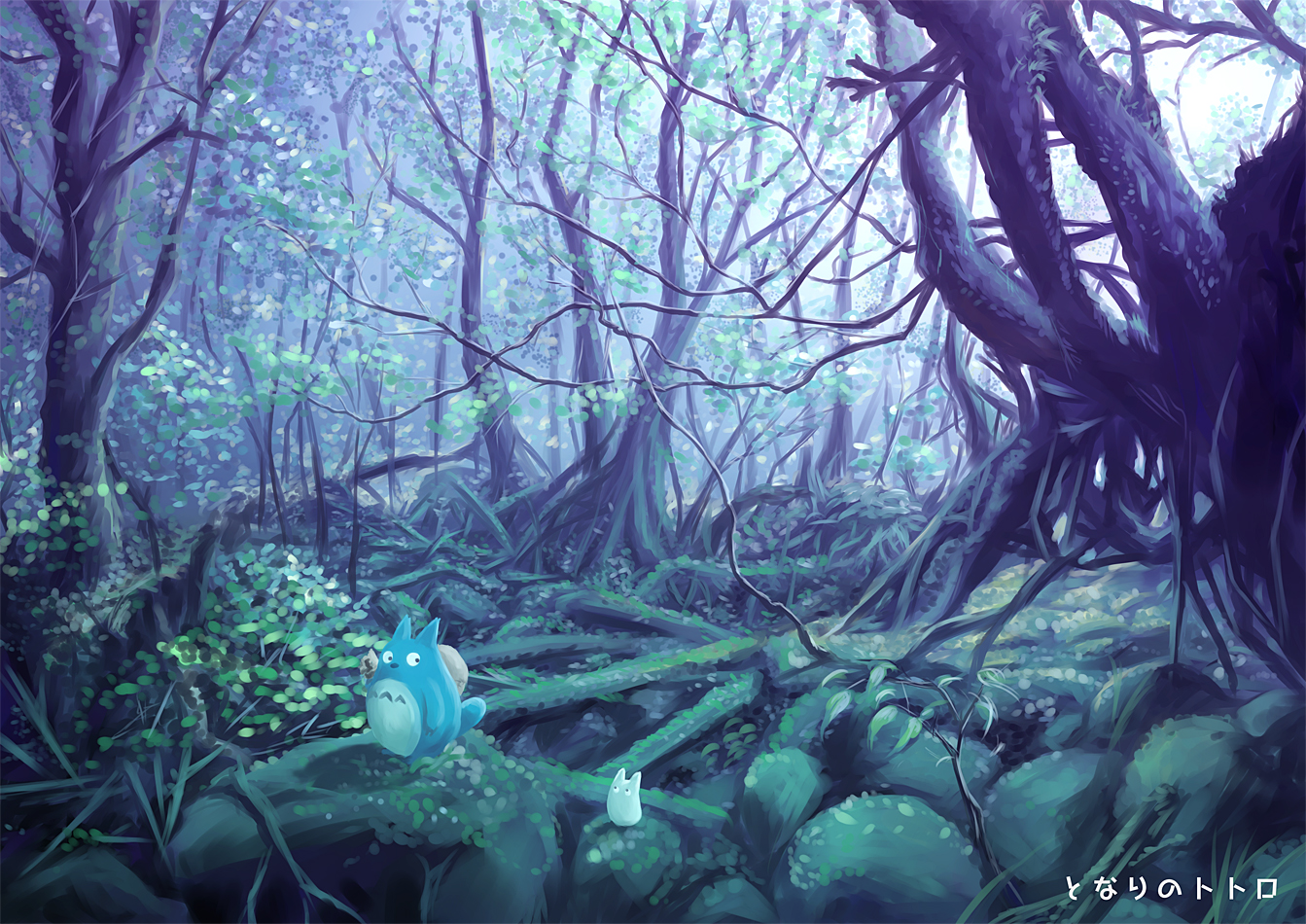 Simple Wallpaper Forest Totoro - Tonari  Perfect Image Reference_219419 .jpg