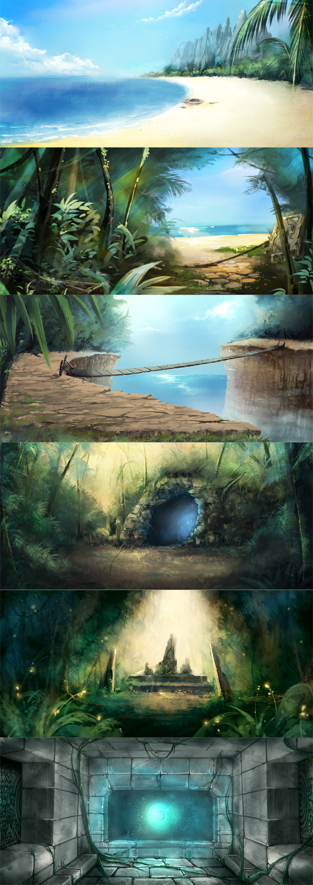 Tags: Anime, Tooaya, Log Pose, Boat, Orb, Shore, Compass, Cave, Dark Colors, Cliff, Stone Wall, Original