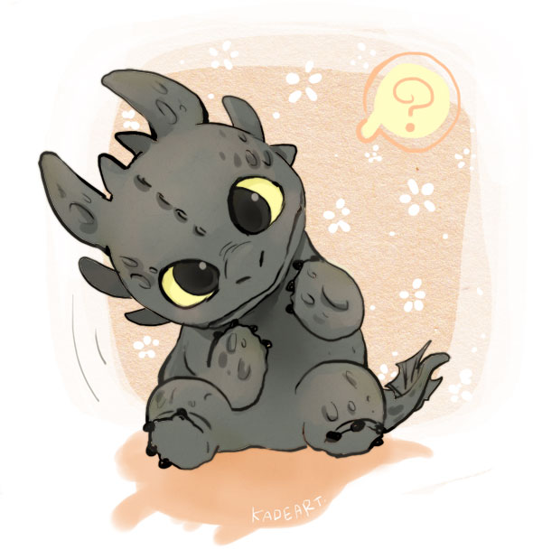Kadeart how to train your dragon toothless dragon question mark