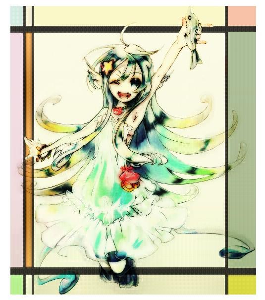 Tags: Anime, Pepeco, Cardfight!! Vanguard, Top Idol Aqua, Pixiv, Fanart, Vanguard Unit, Vanguard Race: Mermaid, Bermuda △