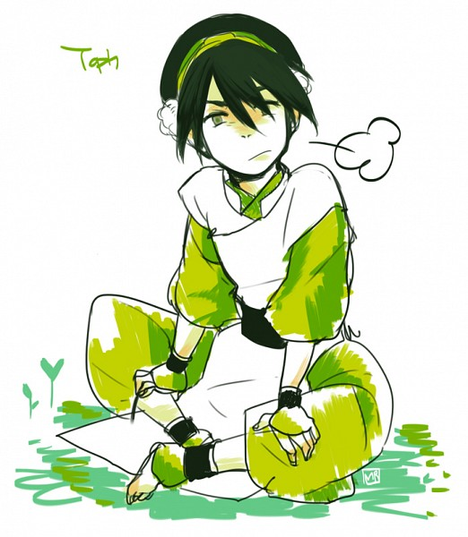 Tags: Anime, Avatar: The Last Airbender, Toph Bei Fong, Breath, Blind, Crossed Legs
