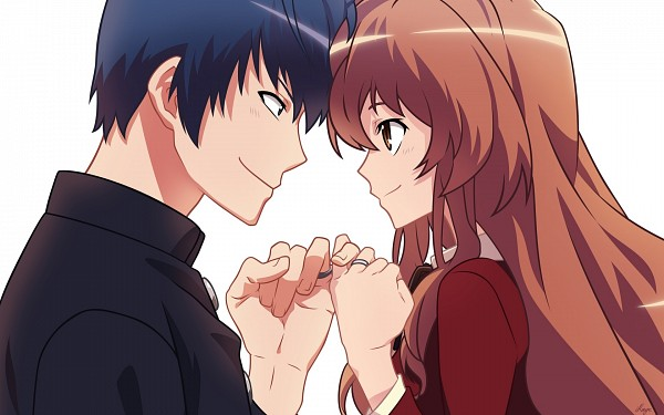 Tags: Anime, B255, Toradora!, Takasu Ryuuji, Aisaka Taiga, Pinky Promise, Head to Head