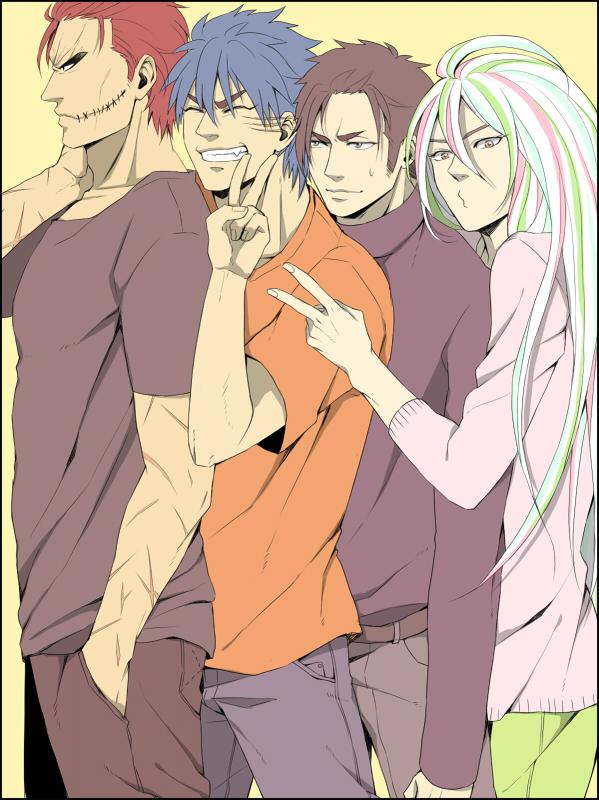 Tags: Anime, Pixiv Id 916676, Toriko, Toriko (Character), Zebra (Toriko), Coco (Toriko), Sani (Toriko), :З, Orange (Color)