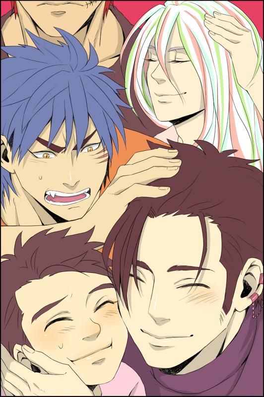 Tags: Anime, Pixiv Id 916676, Toriko, Sani (Toriko), Zebra (Toriko), Toriko (Character), Komatsu (Toriko), Coco (Toriko), Jealousy, Mobile Wallpaper