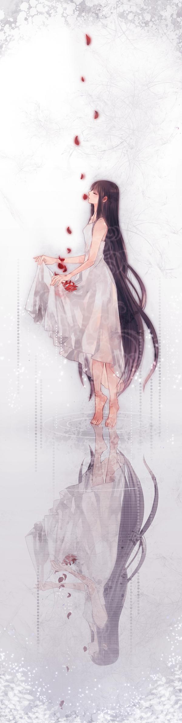 Tags: Anime, Toryufu, Gown, Walking On Water, Pixiv, Original
