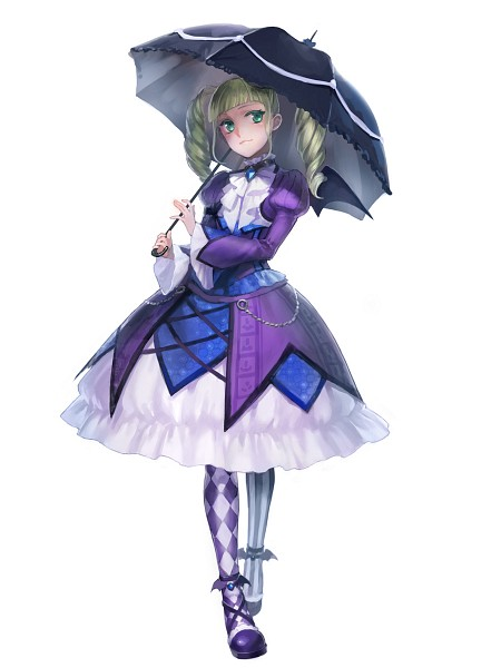 Tags: Anime, Pantyhose, Chain, Lipstick, Purple Dress, Purple Outfit, Lolita Fashion