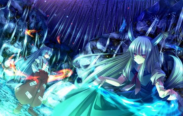 Tags: Anime, Ryosios, Touhou, Imperishable Night, Ex Keine, Kamishirasawa Keine, Fujiwara no Mokou