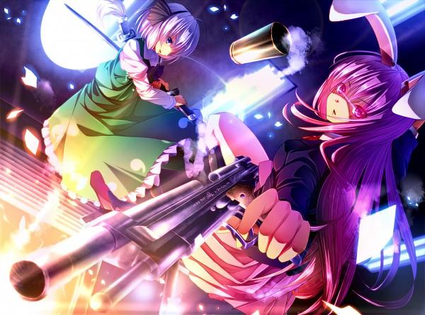 Tags: Anime, Ryosios, Touhou, Reisen Udongein Inaba, Konpaku Youmu, Myon, Green Skirt