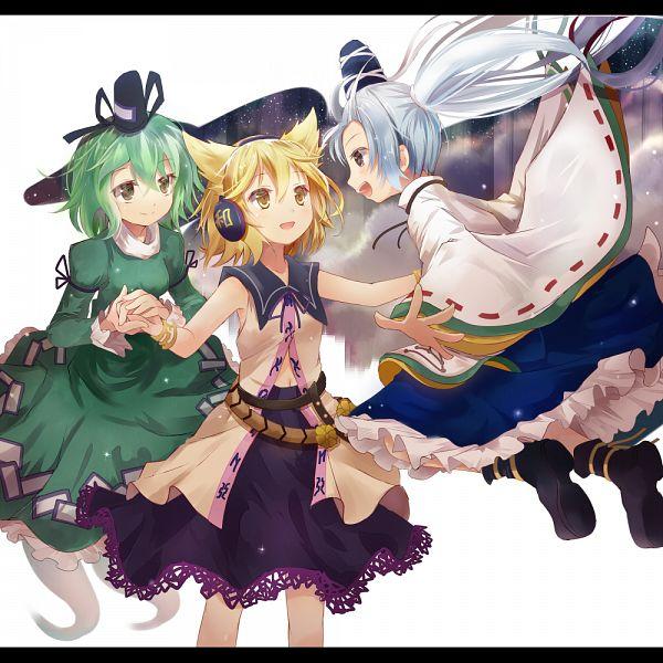 Tags: Anime, Efe, Touhou, Soga no Tojiko, Mononobe no Futo, Toyosatomimi no Miko, Black Border