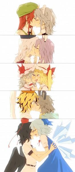 Tags: Anime, Minakata Sunao, Touhou, Izayoi Sakuya, Toramaru Shou, Hong Meiling, Remilia Scarlet