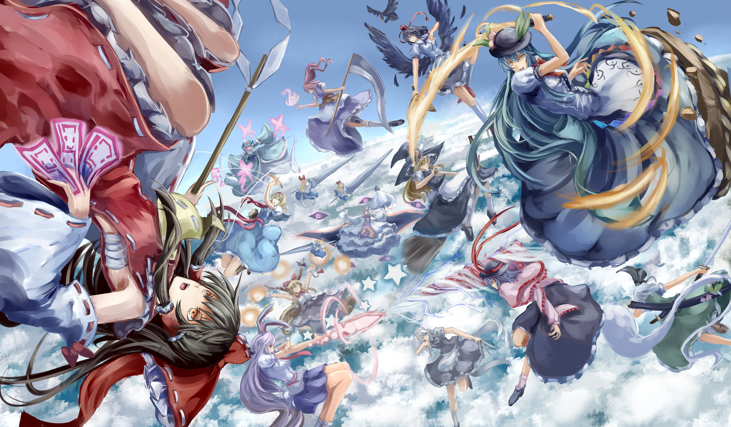 Ibuki Suika Suika Ibuki Wallpaper Zerochan Anime Image