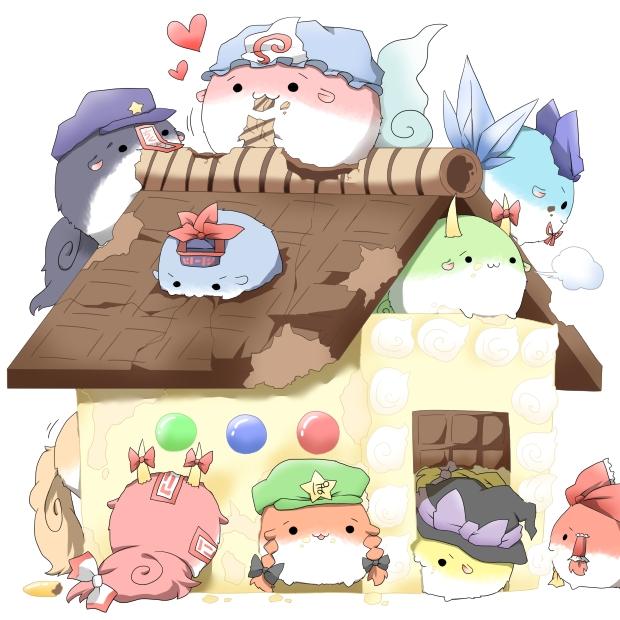 Tags: Anime, Naononakukoroni, Touhou, Ex Keine, Kirisame Marisa, Kamishirasawa Keine, Cirno, Hong Meiling, Hakurei Reimu, Fujiwara no Mokou, Saigyouji Yuyuko, Miyako Yoshika, Hakutaku