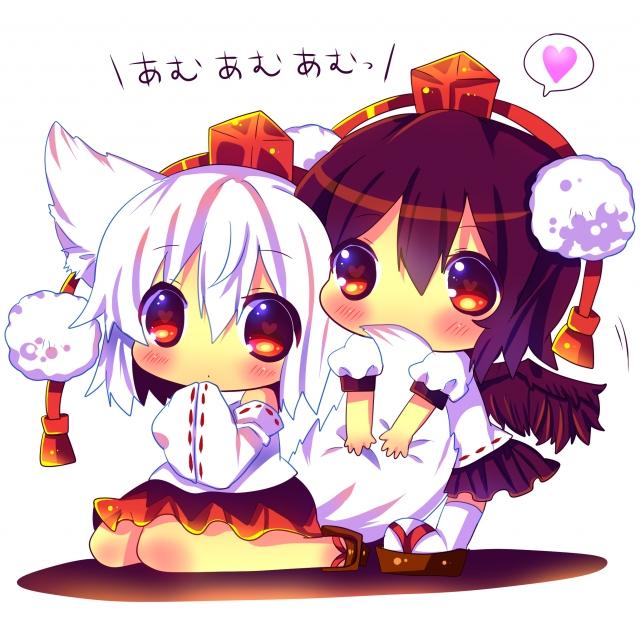 Tags: Anime, Hina Hina, Touhou, Inubashiri Momiji, Shameimaru Aya, AyaMomi