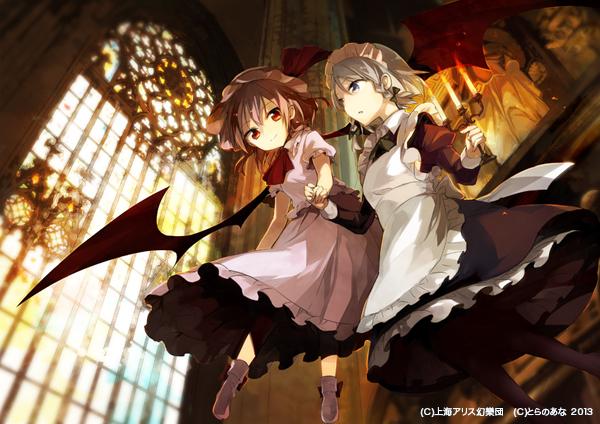 Tags: Anime, Rin (Royal), Touhou, Izayoi Sakuya, Remilia Scarlet, Fanart, Pixiv, Fanart From Pixiv