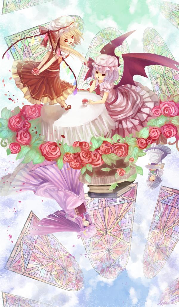Tags: Anime, Touhou, Remilia Scarlet, Flandre Scarlet, Patchouli Knowledge, Izayoi Sakuya
