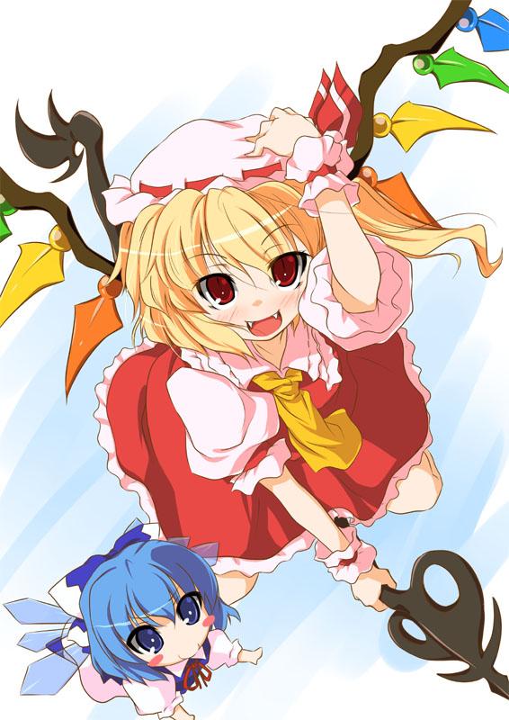 Tags: Anime, Touhou, Flandre Scarlet, Cirno, Laevatein