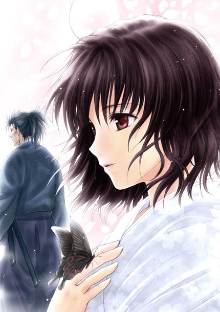 Tags: Anime, Sato-pon, Touhou, Konpaku Youki, Saigyouji Yuyuko, Saigyouji Yuyuko (Living), Mobile Wallpaper
