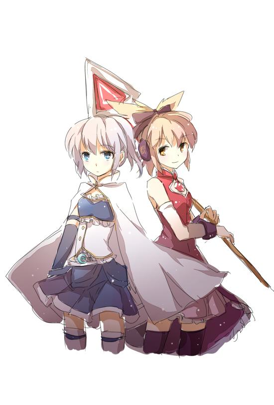 Tags: Anime, Yetworldview Kaze, Touhou, Toyosatomimi no Miko, Mononobe no Futo, Miki Sayaka (Cosplay), Sakura Kyouko (Cosplay)