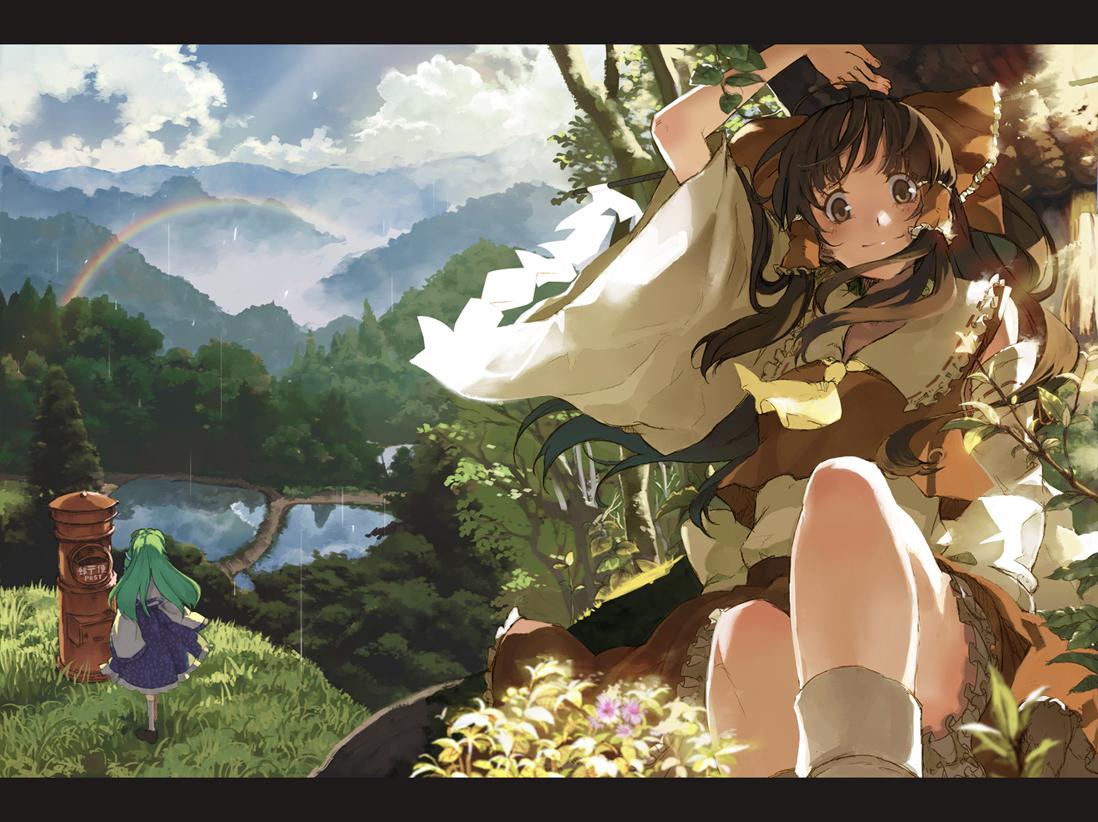 anime girl wallpaper border - photo #47