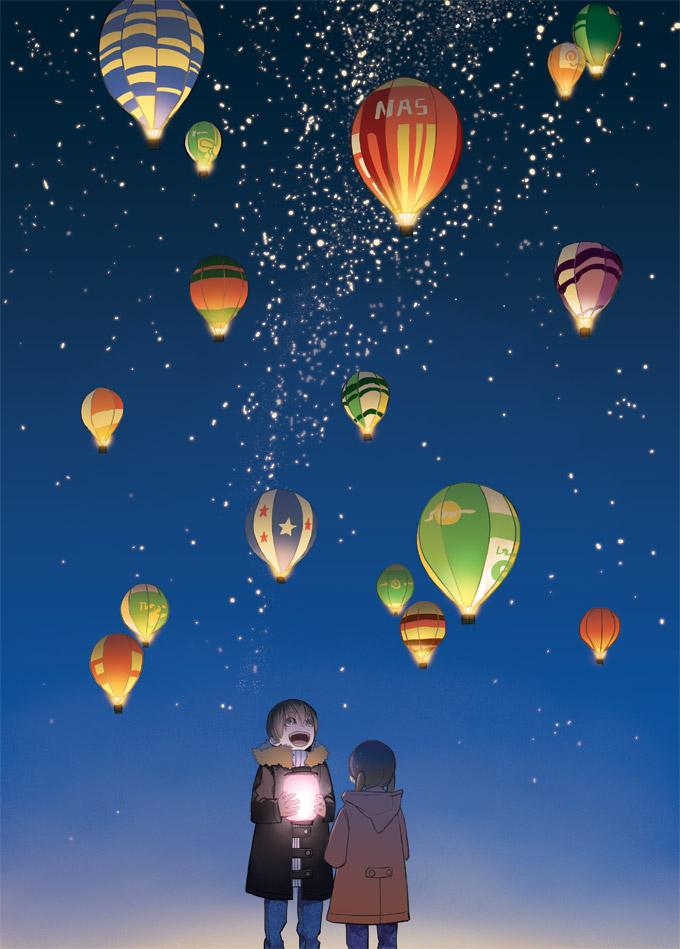 Amazing Wallpaper Night Hot Air Balloon - Touki  Perfect Image Reference-776165.jpg