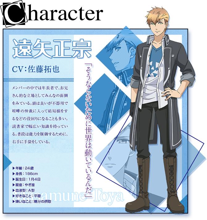 Tags: Anime, Takeuchi Yukari, Kinema Citrus, NORN9 ~Norn + Nonette~, Toya Masamune, Character Profile, PNG Conversion, Official Art