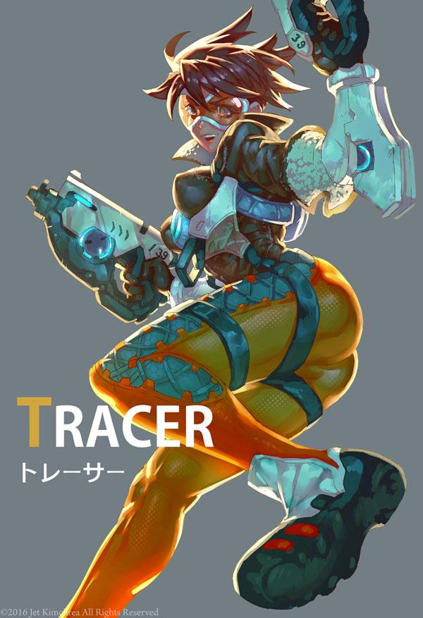 Tags: Anime, Jetty Jet, Overwatch, Tracer, Fanart From DeviantART, deviantART, Fanart