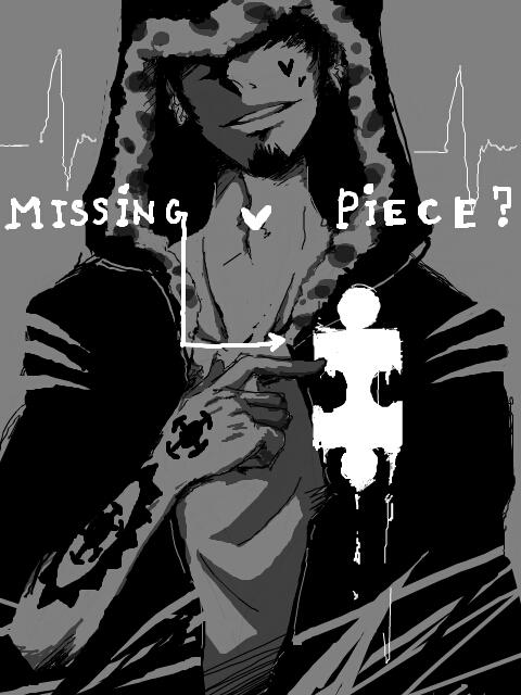 Tags: Anime, Kittykatkanie, ONE PIECE, Trafalgar Law, Puzzle Piece, Fanart, Fanart From Pixiv, Pixiv, PNG Conversion, Heart Pirates