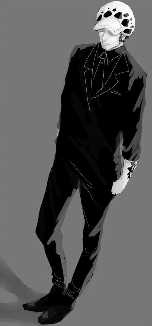 Anime Characters Leather Jacket : Trafalgar law one piece image zerochan