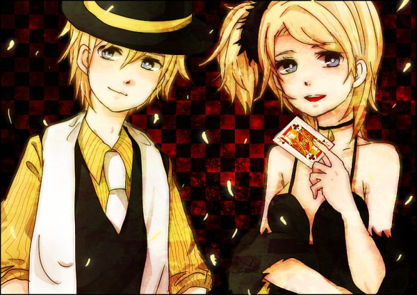 Tags: Anime, Pixiv Id 3351991, Vocaloid, Kagamine Rin, Kagamine Len, Brother And Sister, Kagamine Mirrors