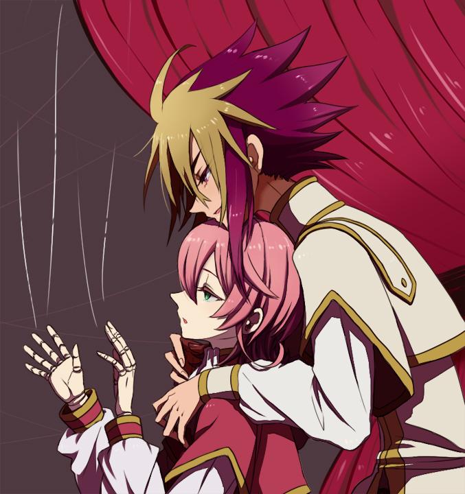 Tags: Anime, Pixiv Id 948749, Yu-Gi-Oh!, Yu-Gi-Oh! ZEXAL, IV (Yu-Gi-Oh! ZEXAL), III (Yu-Gi-Oh! ZEXAL), Marionette, Fanart From Pixiv, Fanart, Pixiv, Tron Family, Vetrix Family