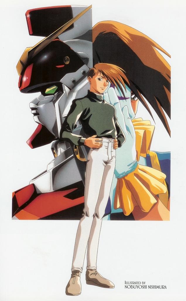 Tags: Anime, Nishimura Nobuyoshi, Mobile Suit Gundam Wing, Trowa Barton, Scan, Official Art