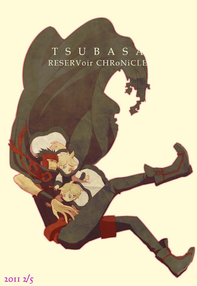 Tags: Anime, Fujimoto (Pixiv1086013), Tsubasa: RESERVoir CHRoNiCLE, Yui (TRC), Fay D. Flourite, Kurogane, Fanart, Pixiv, Mobile Wallpaper