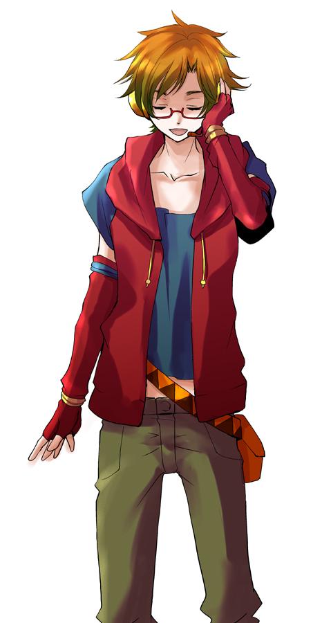 Tags: Anime, Cat0178, UTAU, Tsuine Owata, Hand on Headphones, Covering Ears, Pixiv, Fanart